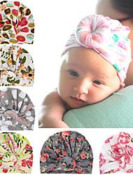 cheap -6 pcs/set Children's Accessories Children's Donut Hat Newborn Baby Ball Print Toque