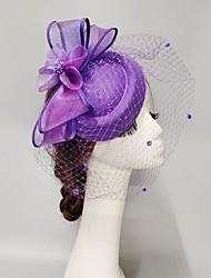 cheap -Feathers / Net Fascinators / Hats / Headpiece with Feather / Cap / Flower 1 PC Wedding / Horse Race Headpiece