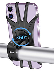 cheap -Bike Phone Mount Anti-Slip Adjustable 360°Rolling / Rotatable for Road Bike Mountain Bike MTB Folding Bike Silica Gel Cycling Bicycle Black