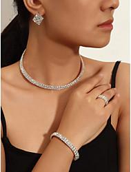cheap -Women's Earrings Set Tennis Chain Ribbon Stylish Earrings Jewelry White For Party Wedding Festival 2 sets