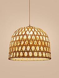 cheap -35/50 cm Pendant Lantern Design Single Design Pendant Light LED Wood / Bamboo Lantern Painted Finishes Nature Inspired Nordic Style 220-240V