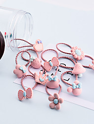 cheap -Resin Cartoon Mushroom Crown Flower Cherry Love Spray Paint Frosted Rice Hair Tie Boxed Rubber Band Set Combination