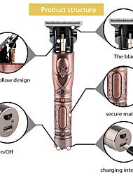 cheap -1 Pcs Bronze USB Rechargeable Hair Clipper Electric Hair Trimmer Cordless Shaver Trimmer 0mm Men Barber Hair Cutting Machine