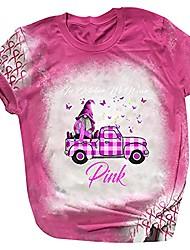 cheap -in october we wear pink breast cancer awareness women's halloween short sleeve t-shirt cute pumpkin ghost graphic tops