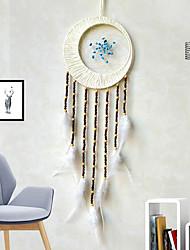 cheap -Manufacturers supply the moon dream net home hanging tassel dream net hanging tapestry feather dream net spot
