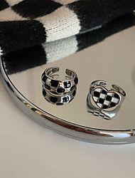 cheap -Women's Rings Artistic Party Ring / Black / White / Fall / Winter / Spring