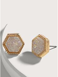 cheap -Women's Earrings Classic Precious Cute Sweet Earrings Jewelry Gold For Street Festival 2pcs