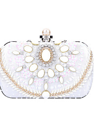 cheap -Women's Bags Polyester Evening Bag Crystals Chain Party / Evening Daily Retro Evening Bag Chain Bag Blushing Pink Silver