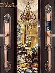 cheap -Zinc alloy door intelligent lock antique fingerprint password lock villa lock high-end door lock