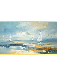 cheap -Oil Painting Handmade Hand Painted Wall Art Horizontal Modern Abstract Seascape Home Decoration Decor Rolled Canvas No Frame Unstretched