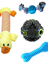 cheap -Squeaking Toy Teeth Cleaning Toy Dog Toy Dog Kitten 1 set Pet Exercise Releasing Pressure Pet Training Teething Rope Toy Teething Toy Flannel Gift Pet Toy Pet Play