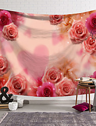 cheap -Heart Flower Wall Tapestry Art Decor Blanket Curtain Hanging Home Bedroom Living Room Decoration Polyester