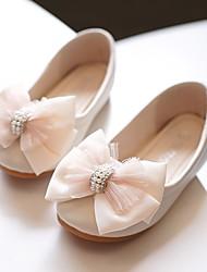 cheap -Girls' Flats Flower Girl Shoes Microfiber Little Kids(4-7ys) Pink Ivory Fall Winter