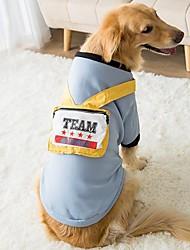 cheap -big dog clothes spring and autumn golden retriever labrador shiba inu samoyed medium and large dog plus velvet two-legged spring clothes