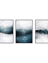 cheap -Oil Painting Handmade Hand Painted Wall Art Three Panels Abstract Modern Home Decoration Decor Rolled Canvas No Frame Unstretched