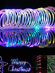 cheap -LED String Light 10M 100LEDs Water Pipe String Light Remote Control Battery Swimming Pool Copper Wire Fairy Lights Christmas Lights Garden Decoration