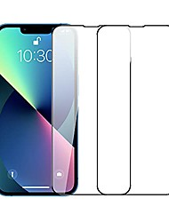 cheap -compatible for iphone 13 pro max screen protector 6.7 inch 2 pack hd clear premium tempered glass case friendly 9h hardness bubble free easy installation
