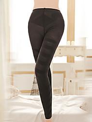 cheap -Corset Women's Control Panties Hip Pants Basic Yoga Solid Color Seamed Nylon Spandex Running Gym Yoga Fall Winter Black
