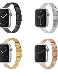cheap -Smart Watch Band for Apple iWatch 1 pcs Modern Buckle Stainless Steel Replacement  Wrist Strap for Apple Watch Series 7 / SE / 6/5/4/3/2/1
