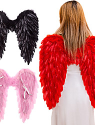 cheap -Christmas Ornaments Black White Angel Feather Wings Holiday Party Costume Cosplay Props Scene Layout Catwalk Demon Devil Wing Show
