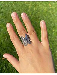 cheap -Women Ring Classic Bronze Silver Alloy Butterfly Stylish Cute 1pc / Women's