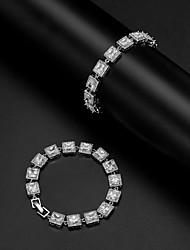 cheap -Women's Bracelet Geometrical Precious Stylish Copper Bracelet Jewelry Silver For Wedding
