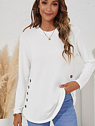 cheap -Women's Sweatshirt Pullover Crew Neck Solid Color Sport Athleisure Sweatshirt Top Long Sleeve Breathable Soft Comfortable Everyday Use Street Casual Daily Outdoor / Winter