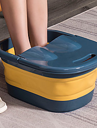 cheap -Foot Soak Bucket Household Portable Foot Wash Basin With Cover Dormitory Health Care Fumigation Over Shank  Bucket