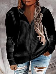 cheap -Women's Plus Size Tops Hoodie Sweatshirt Plain Print Long Sleeve Cowl Neck Streetwear Daily Weekend Polyster Fall Winter Blue Wine