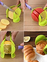 cheap -Fruit Vegetables Slicer Round Tomato Lemon Egg Holder Cutter Tool Handheld Kitchenware Tomato Slicer Bread Clip Kitchen Tool