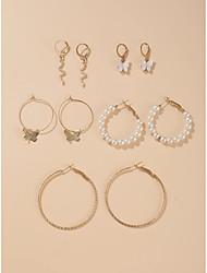 cheap -Women's Earrings Geometrical Vertical / Gold bar Stylish Unique Design European Earrings Jewelry Gold For Party Carnival Club Bar 10pcs
