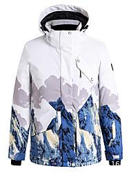 cheap -Men's Ski Jacket Thermal Warm Waterproof Windproof Breathable Hooded Winter Winter Jacket for Snowboarding Ski Mountain / Cotton / Women's