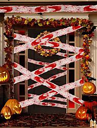 cheap -2pcs Halloween Blood Cloth Isolation Tape Gauze Blood Stained Cloth Warning Tape Warning Tape Scene Decorative Props