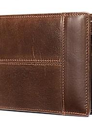 cheap -Men's Bags Nappa Leather Cowhide Wallet Zipper Daily Baguette Bag Black Brown Coffee