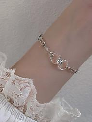cheap -Women's Silver Bracelets Classic Ball Korean S925 Sterling Silver Bracelet Jewelry Silver For Wedding