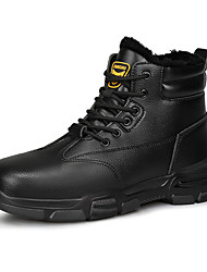 cheap -Unisex Trainers Athletic Shoes Sporty Classic Chinoiserie Office & Career Safety Shoes Faux Leather Black Winter