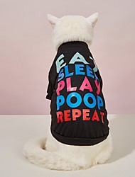 cheap -Dog Cat Shirt / T-Shirt T-shirts Dog clothes Quotes & Sayings Classic Style Funny Casual / Daily Walking Dog Clothes Puppy Clothes Dog Outfits Breathable Black Costume for Girl and Boy Dog Polyester
