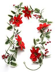 cheap -1pc Christmas Decoration Vine  Christmas Ornaments Holiday Decorations Party Garden Wedding Decoration 13*200 cm