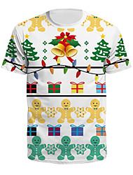 cheap -Men's T shirt Graphic Tree Print Short Sleeve Christmas Tops Lightweight Fashion Big and Tall White