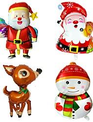 cheap -2pcs/set Christmas Balloons Christmas Party Decoration Balloons Santa Claus Christmas Elk Snowman Penguin Decoration Balloons