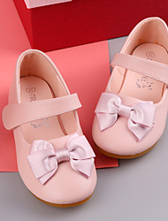 cheap -Girls' Flats Flower Girl Shoes Princess Shoes Microfiber Dress Shoes Little Kids(4-7ys) Toddler(2-4ys) Pink Silver Ivory Fall Spring
