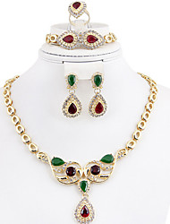 cheap -Women's Crystal Bridal Jewelry Sets Geometrical Head Vintage Earrings Jewelry Gold For Party Wedding Gift Festival 1 set