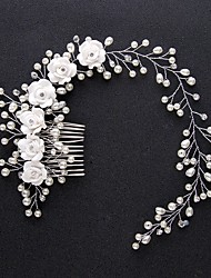 cheap -Floral Crafts Hair Accessories Alloy Wigs Accessories All 1 pcs pcs cm Wedding Party / Party & Evening Cute / Sweet Best Quality / Hot Sale