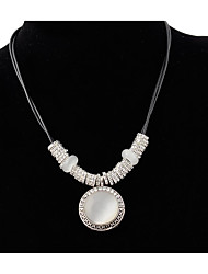 cheap -Pendant Necklace Necklace Women's Classic Resin Hope Simple Trendy Cute Cool Silver 55 cm Necklace Jewelry 1pc for Festival Round