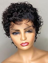 cheap -Unprocessed Virgin Hair 4x13 Closure Wig Free Part Style Burmese Hair Water Wave Multi-color Wig 150% Density Women Color Gradient New Lovely 100% Virgin Women's 8-10 Inch Human Hair