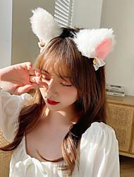 cheap -6 Piece Headband Cat Fox Ear Headdress Photo Cat Helper Photo Headband Beast Ear Hairpin COS Anime Hairpin