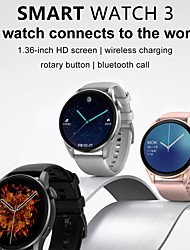 cheap -DT.NO1 DT3 1.36 inch Full Touch Screen bluetooth Calling PPGECG Heart Rate Blood Oxygen Monitor 100 Watch Faces IP68 Waterproof Smart Watch