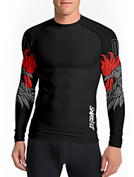 cheap -21Grams Men's Long Sleeve Compression Shirt Running Shirt Top Athletic Athleisure Spandex Quick Dry Moisture Wicking Breathable Fitness Gym Workout Running Active Training Exercise Sportswear Phoenix