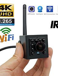 cheap -4K 8MP SONY IMX415 Wifi IP Camera Cctv Security H.265 Intdoor Audio ln MIC Video Surveillance IR CUT 940nm Stealth Led Camhi APP