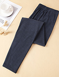 cheap -Men's Polyester Gender Neutral Long Johns Solid Colored Mid Waist